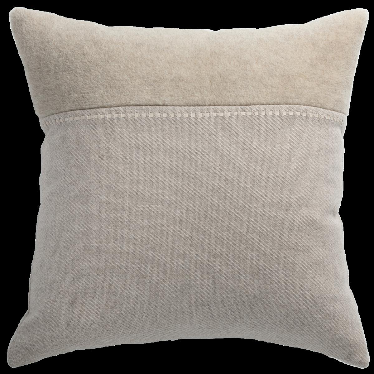 de Le Cuona | Cashmere Wool Twill Cushion With Alpaca Panel Taupe