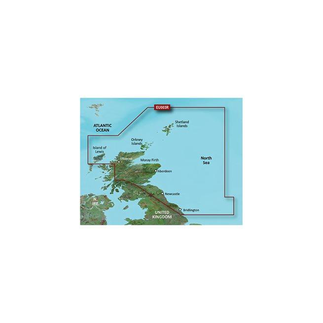 Garmin Great Britain, NE Coast Garmin microSD™/SD™ card: VEU003R-