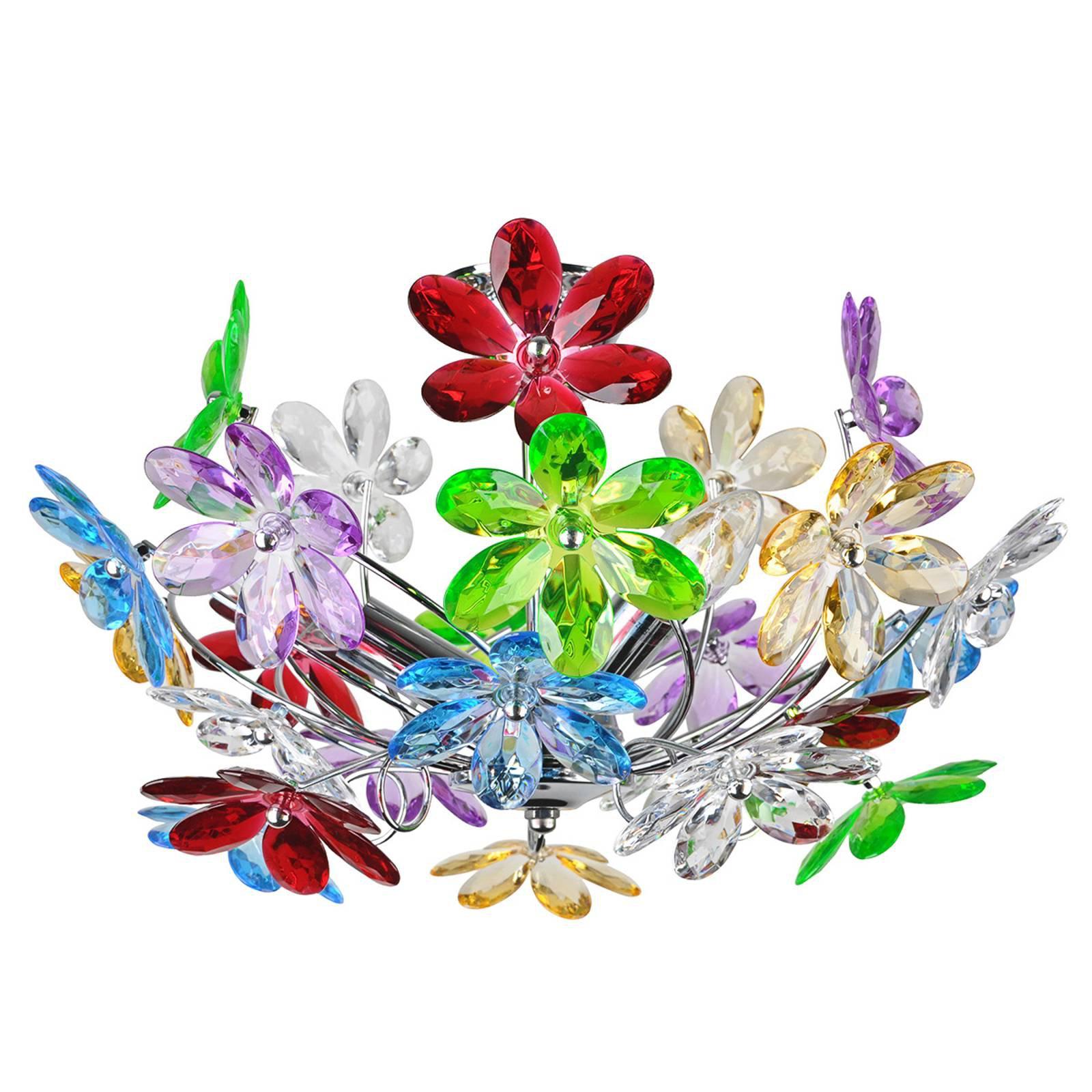 Flerfarget taklampe Flower