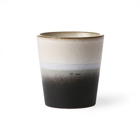 70's Keramikkopp Svart og Hvit 20 cl