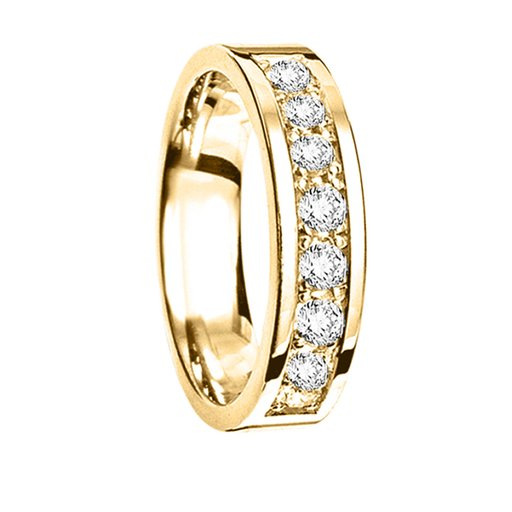 Diamantring i 18K guld, 50