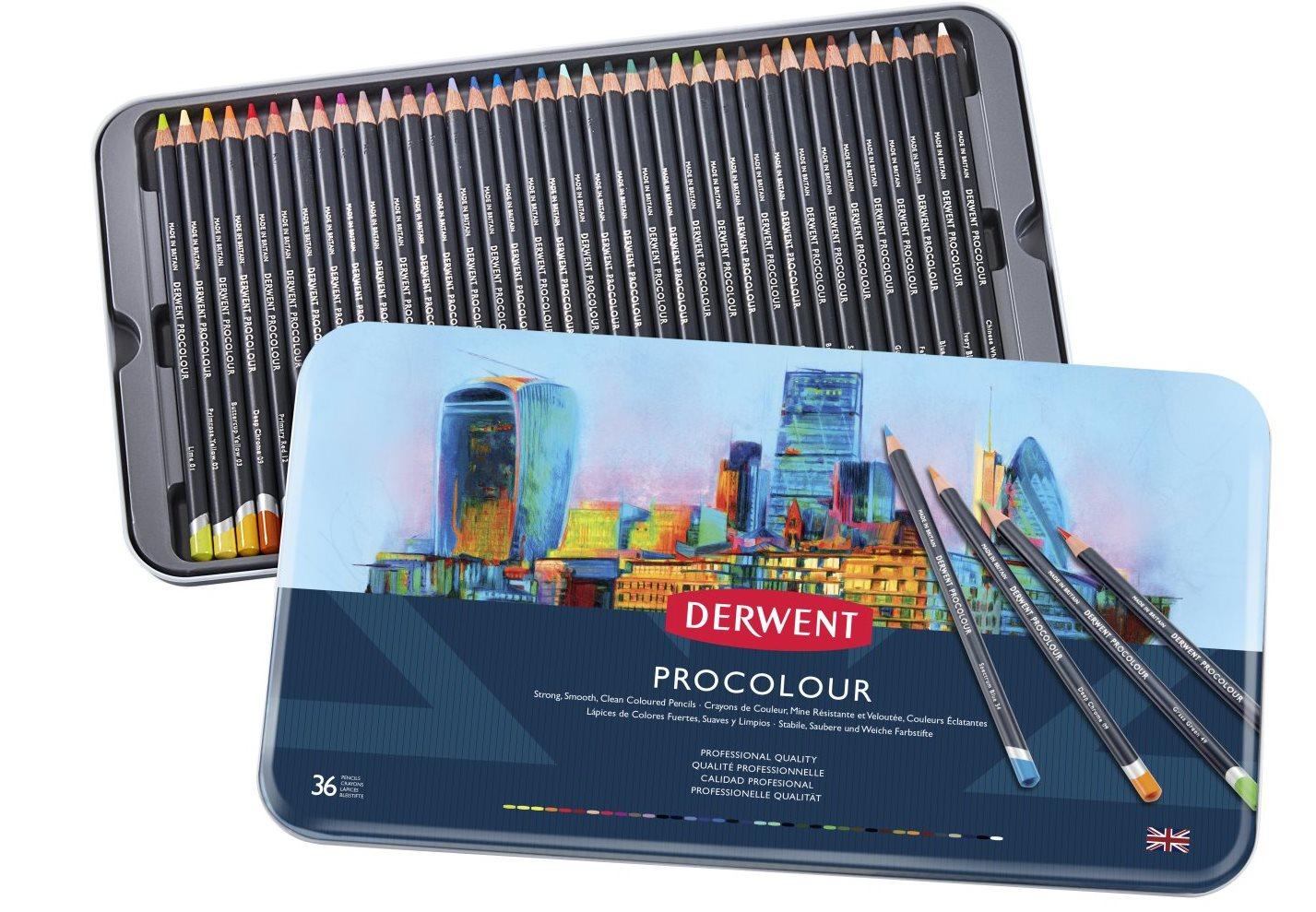 Derwent - Procolour Pencils, 36 Tin