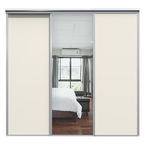 Mix Skyvedør Hvit / Sølvspeil 2080 mm 3 dører