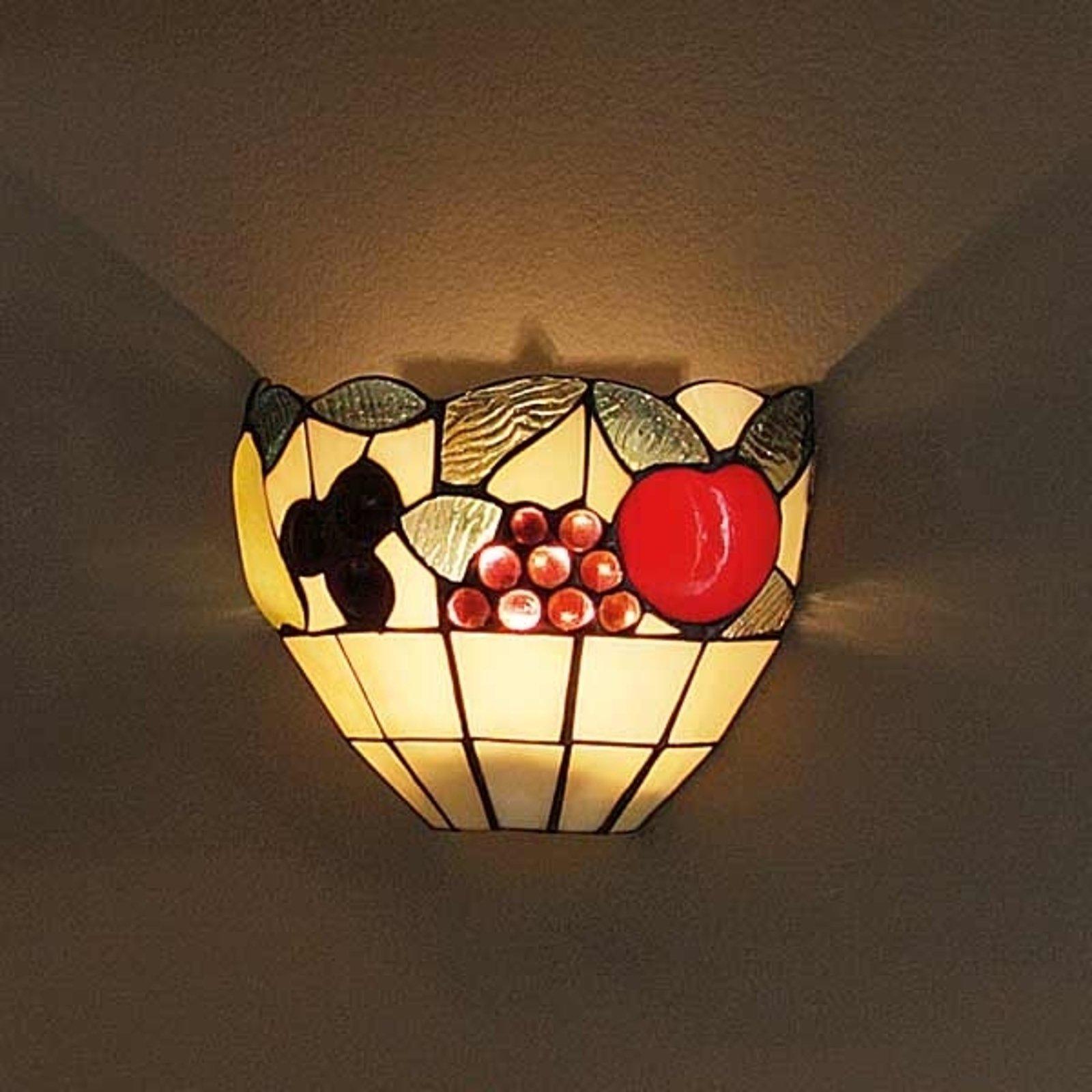 Vegglampe AMIRA i Tiffanystil