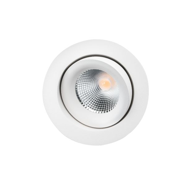 SG Armaturen Junistar Lux Isosafe Downlight-valaisin 7 W, valkoinen 560 lm