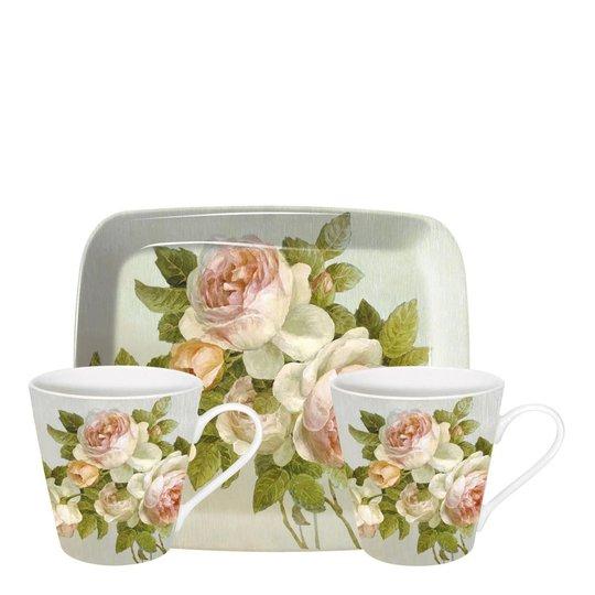 Pimpernel - Antique Rose Muggar + Bricka