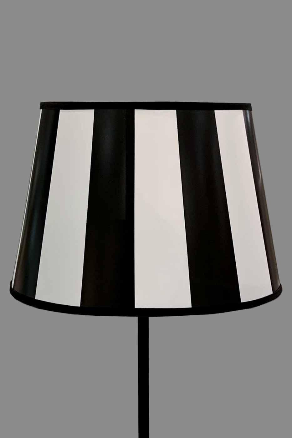 Lampskärm James oval 30cm randig