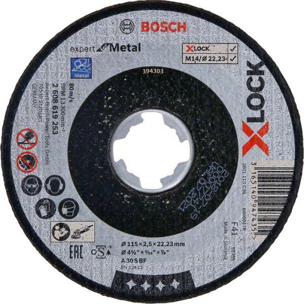 Bosch Expert for Metal Kappskive X-LOCK, rett skjæring 115 × 2,5 × 22,23 mm