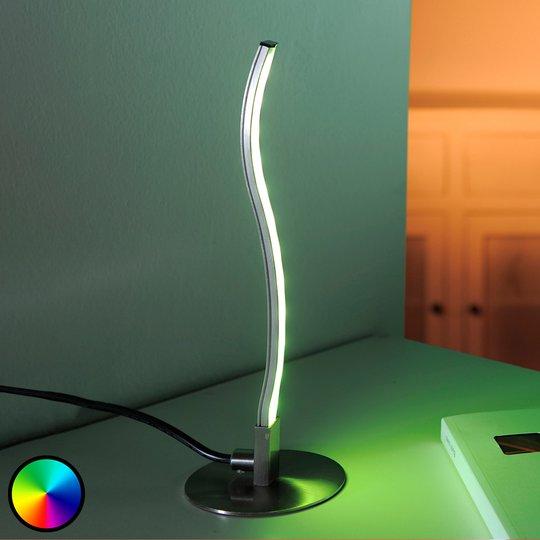 LED-pöytälamppu Tamino kaukosäätimellä