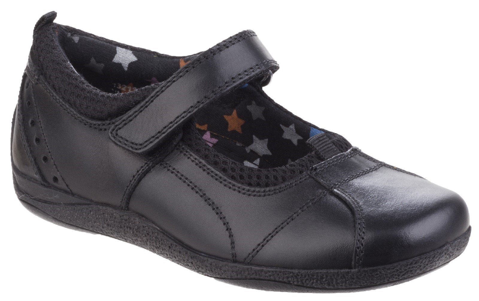 Hush Puppies Kid's Cindy Senior Back To School Shoe Black 25320 - Black 3 UK