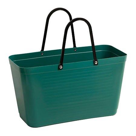 Veske Stor Green Plastic Mørkegrønn