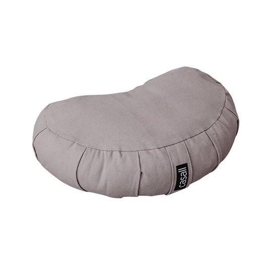 Meditation pillow halfmoon shape, Warm grey