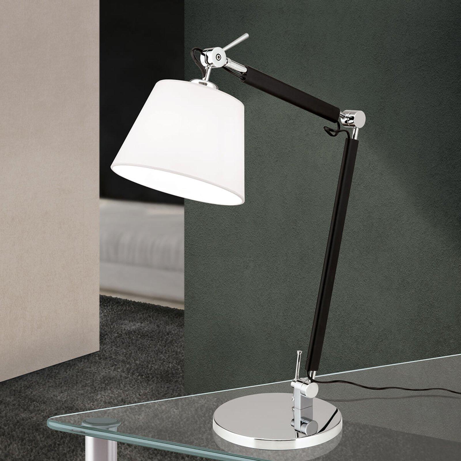 Fleksibel skrivebordslampe i tekstil Leandro