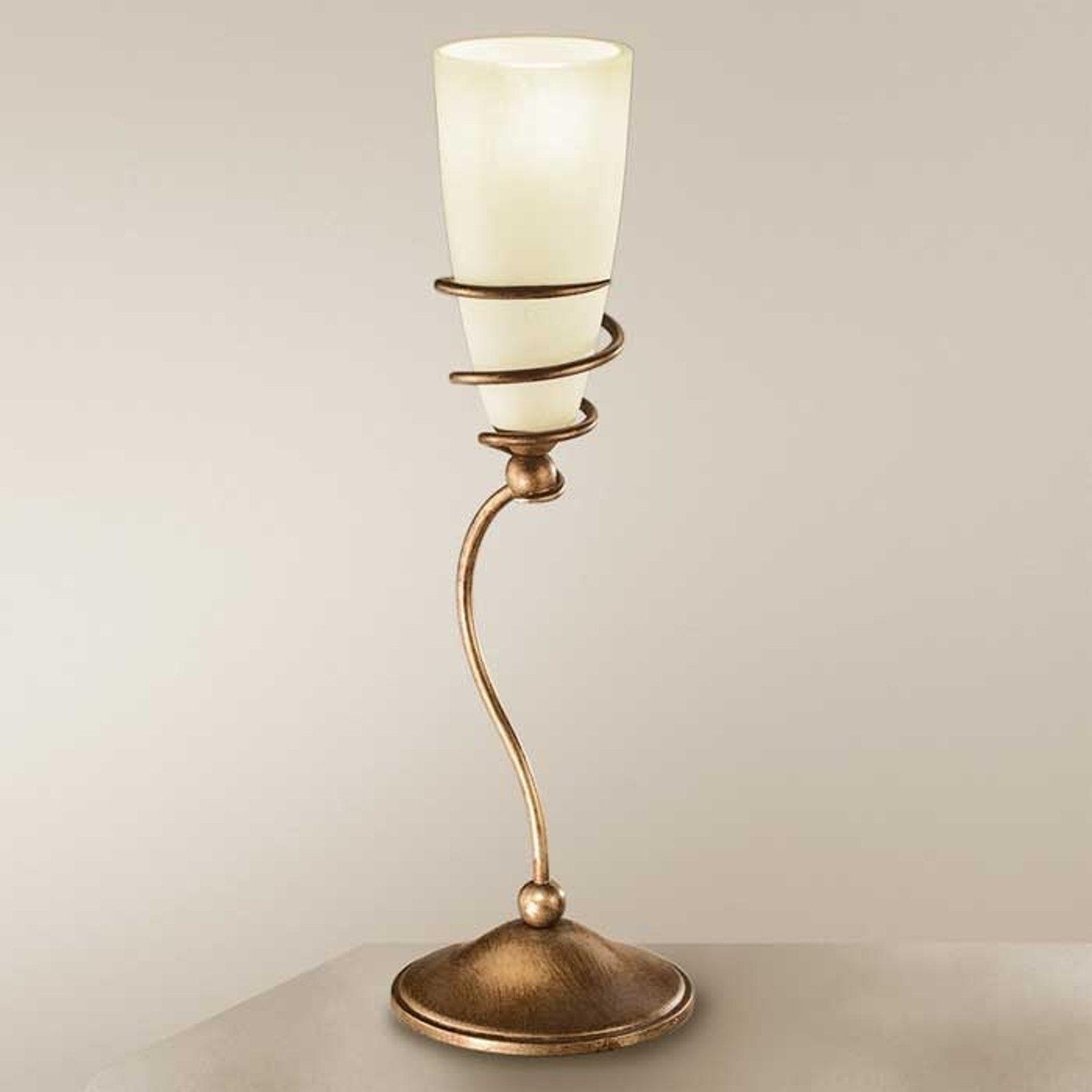 Bordlampe Daniele av antikk messing