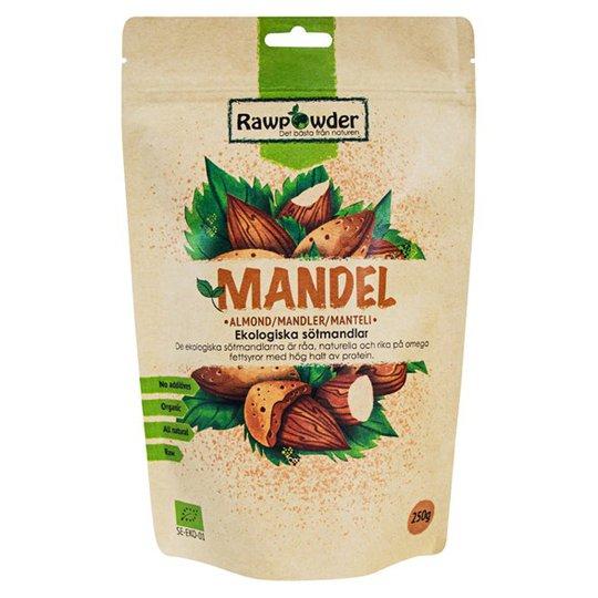 Rawpowder Ekologiska Sötmandlar, 250 g