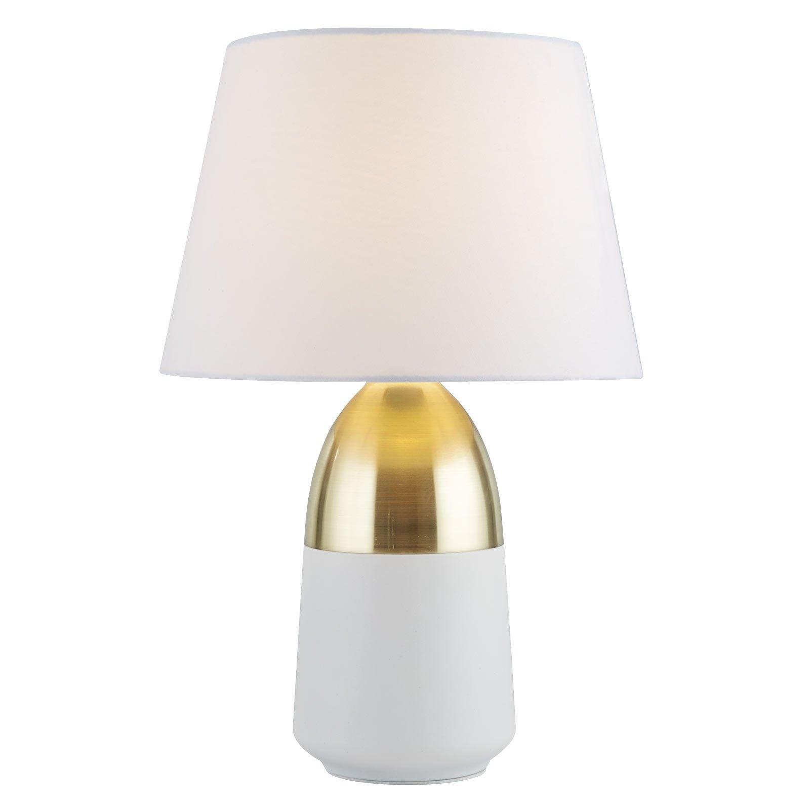 Bordlampe EU700340 i hvit/messing