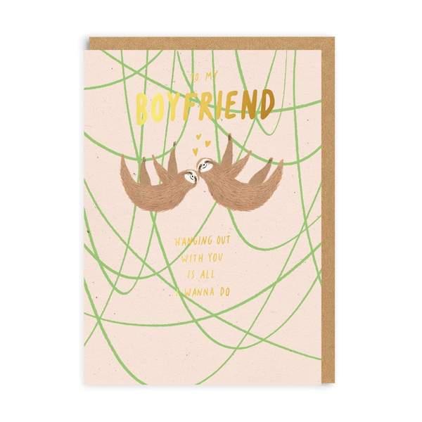Sloth Boyfriend Greeting Card