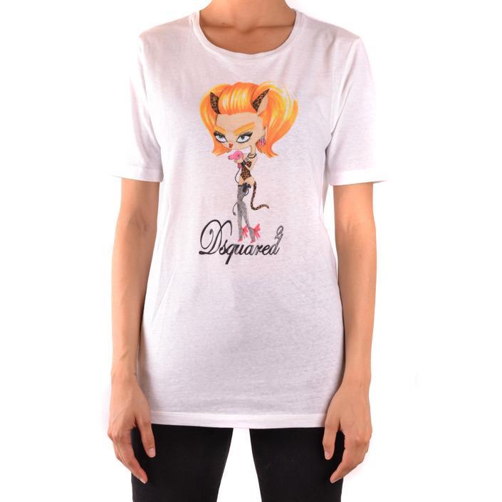 Dsquared Women's T-Shirt White 167597 - white M