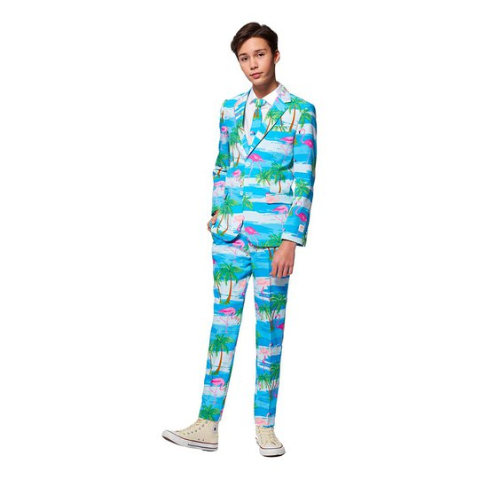 OppoSuits Teen Flaminguy Kostym - 134/140