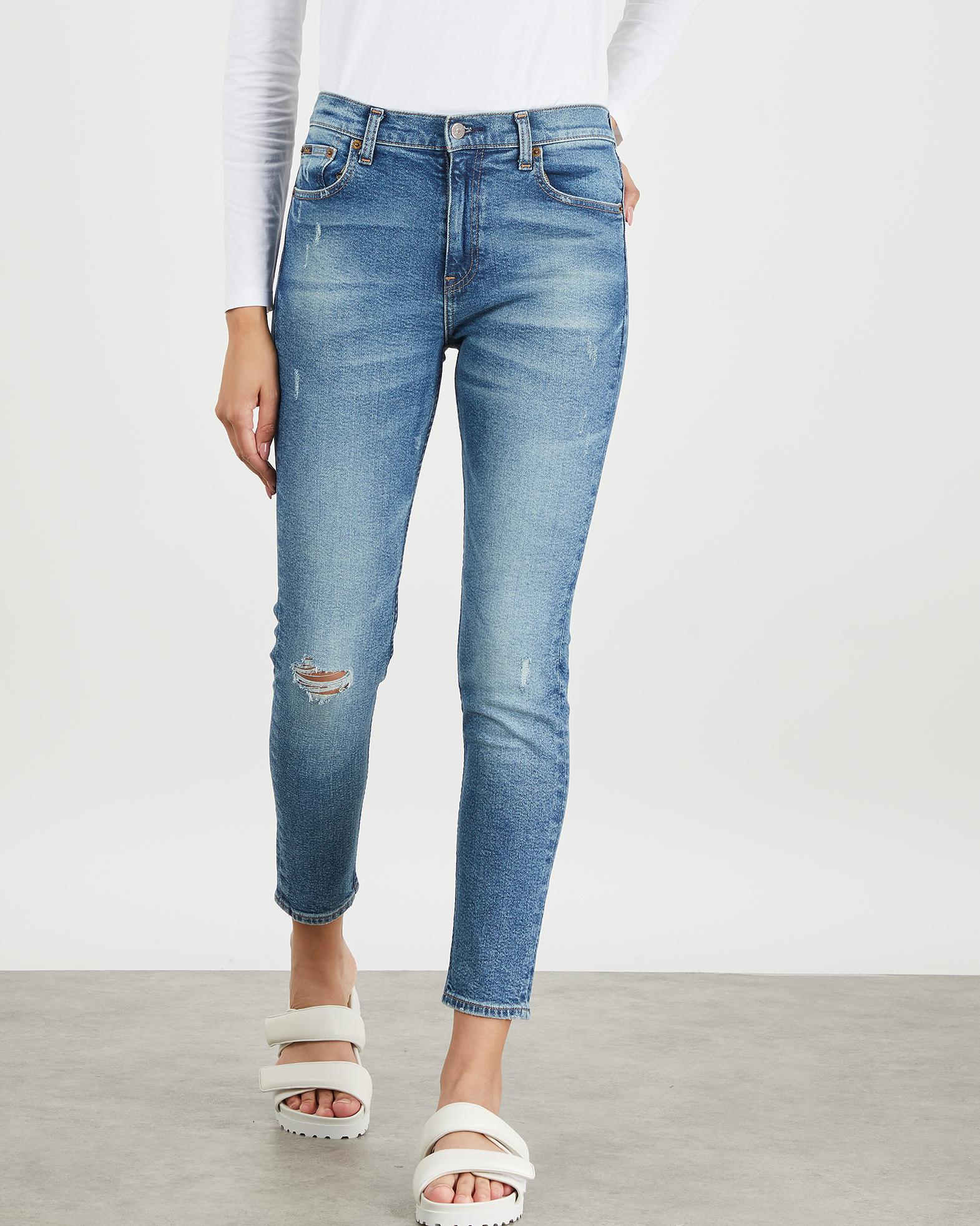 POLO Ralph Lauren Jeans High Rise Skinny Ankle blå 25 R