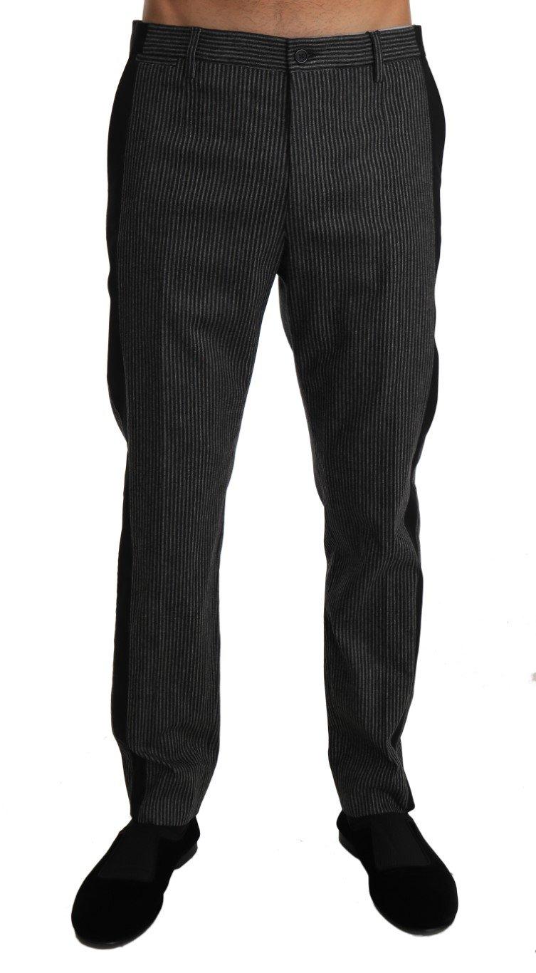 Dolce & Gabbana Men's Wool Stripe Dress Trouser Gray PAN60947 - W34