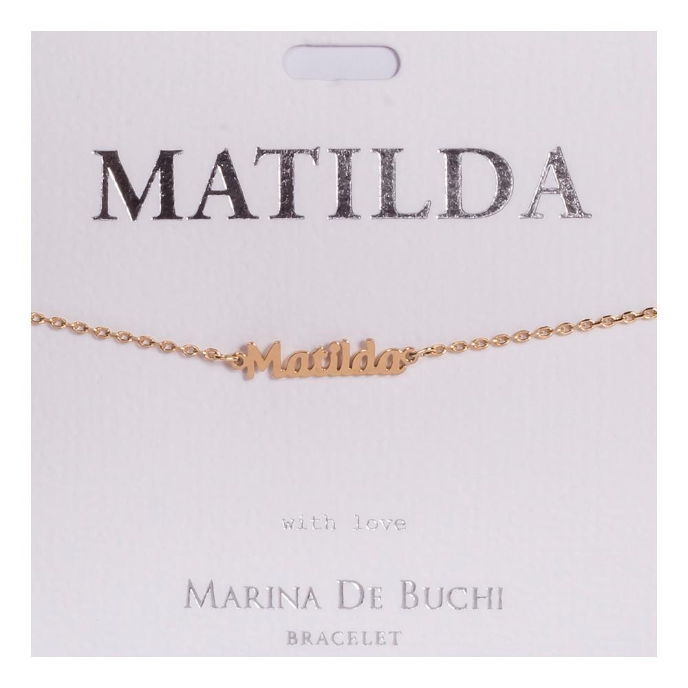 Namnarmband Guld - Matilda