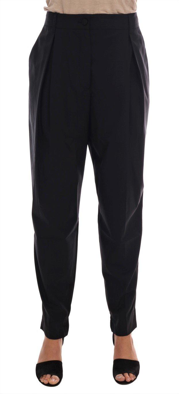 Dolce & Gabbana Women's Wool Stretch Dress Trouser Black BYX1137 - IT48 | XL