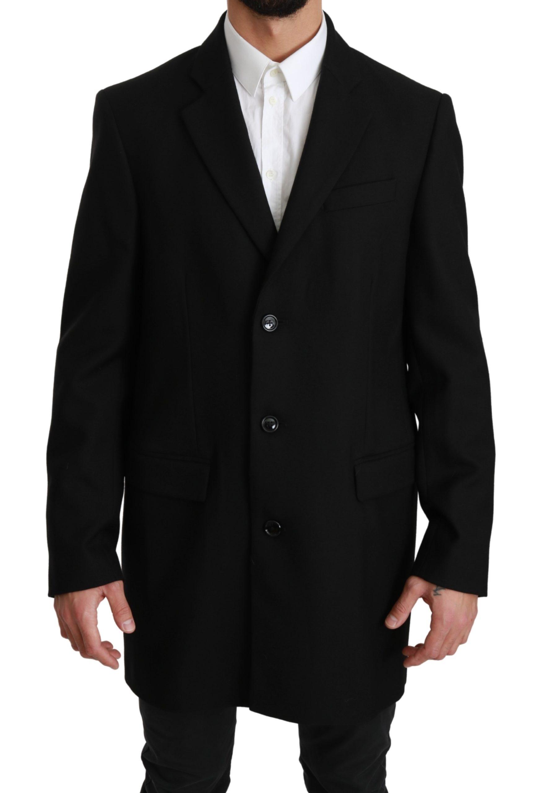 Dolce & Gabbana Men's Wool Blazer Black JKT2591 - IT50 | L