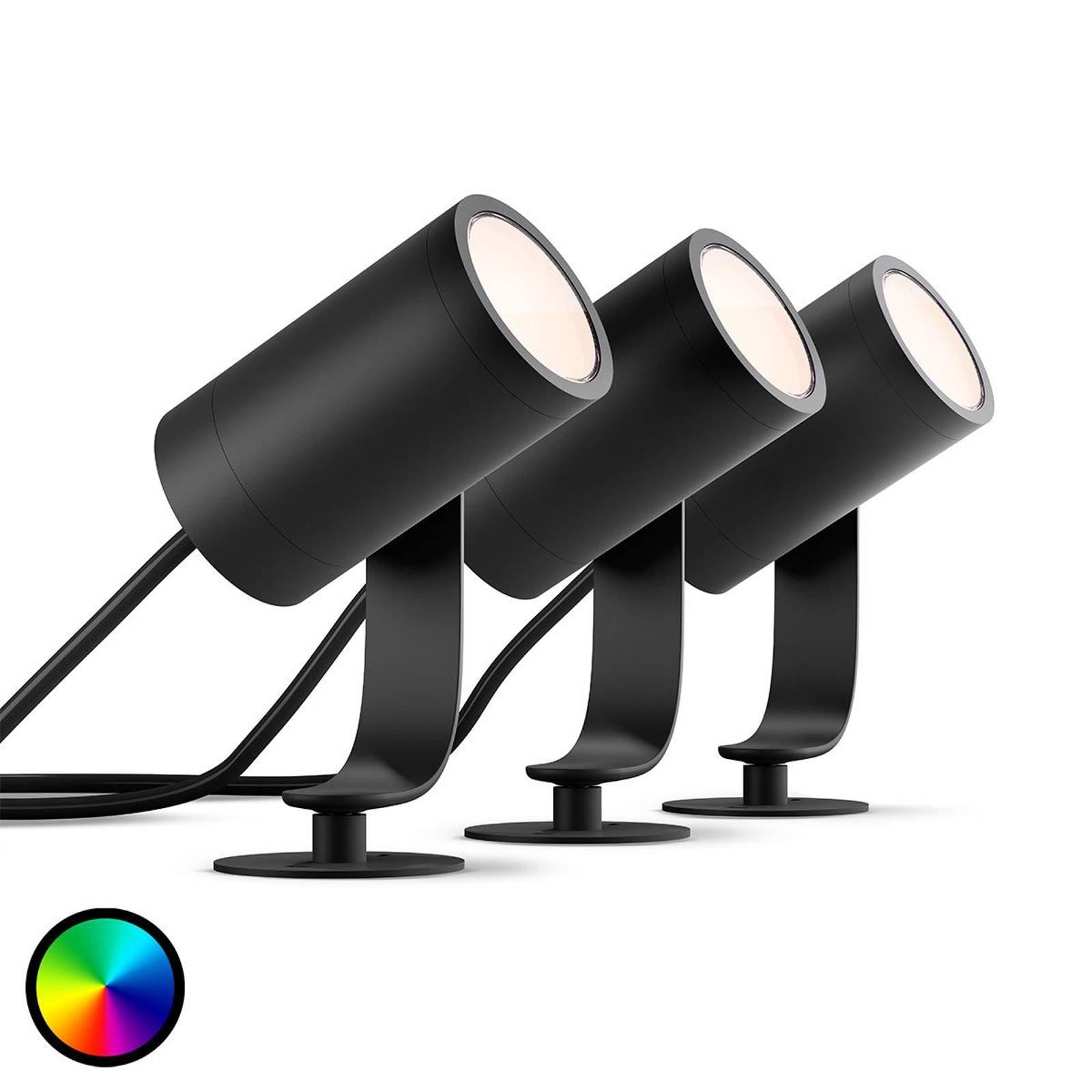 Philips Hue LED-spot Lily i grunnpakke med 3