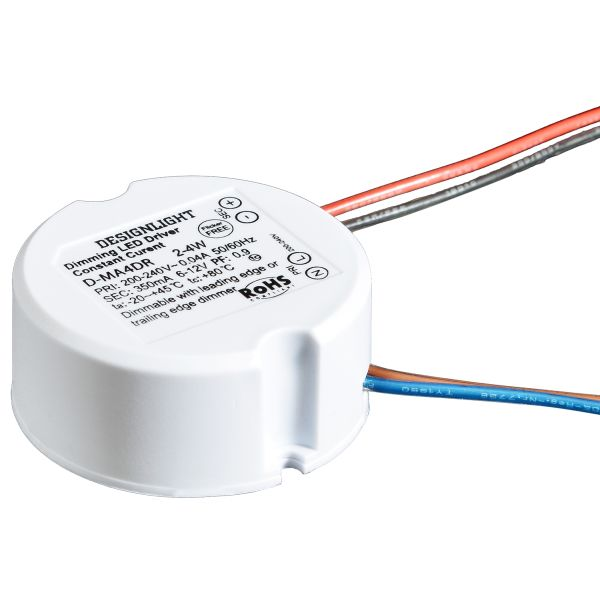 Designlight D-MA4D Liitäntälaite himmennettävä, 2-4 W pyöreä