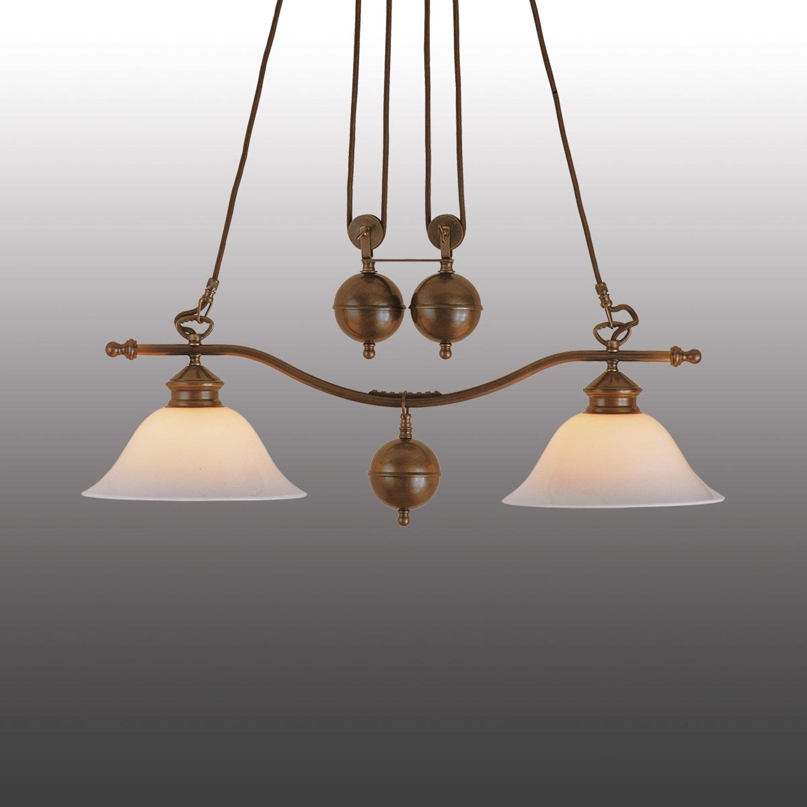 Kaksilamppuinen riippuvalaisin Anno 1900