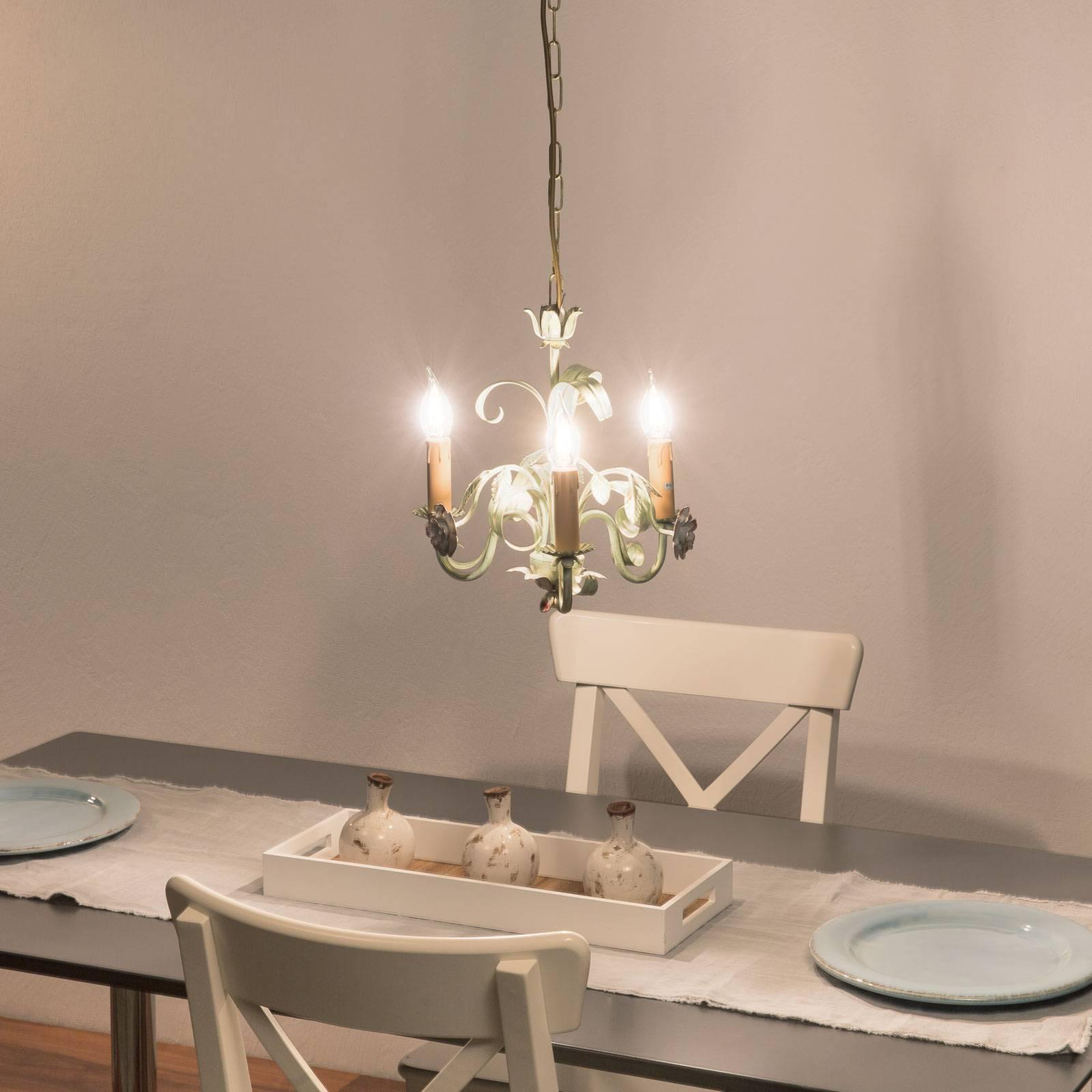 Kattokruunu Tulipe firenzeläistyyliä, 3-lamppuinen