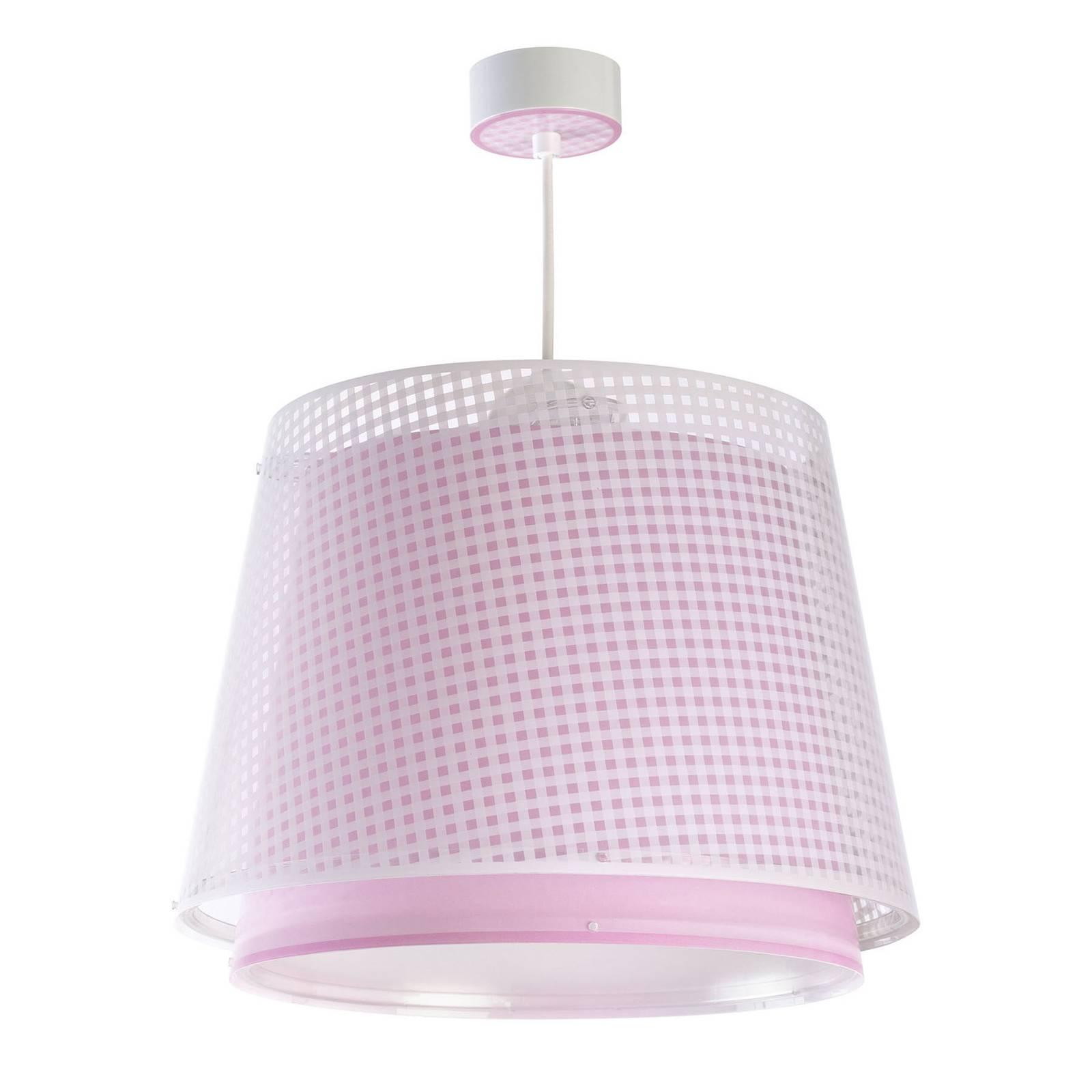 Lastenhuoneen riippuvalaisin Vichy, 1-lamp., roosa