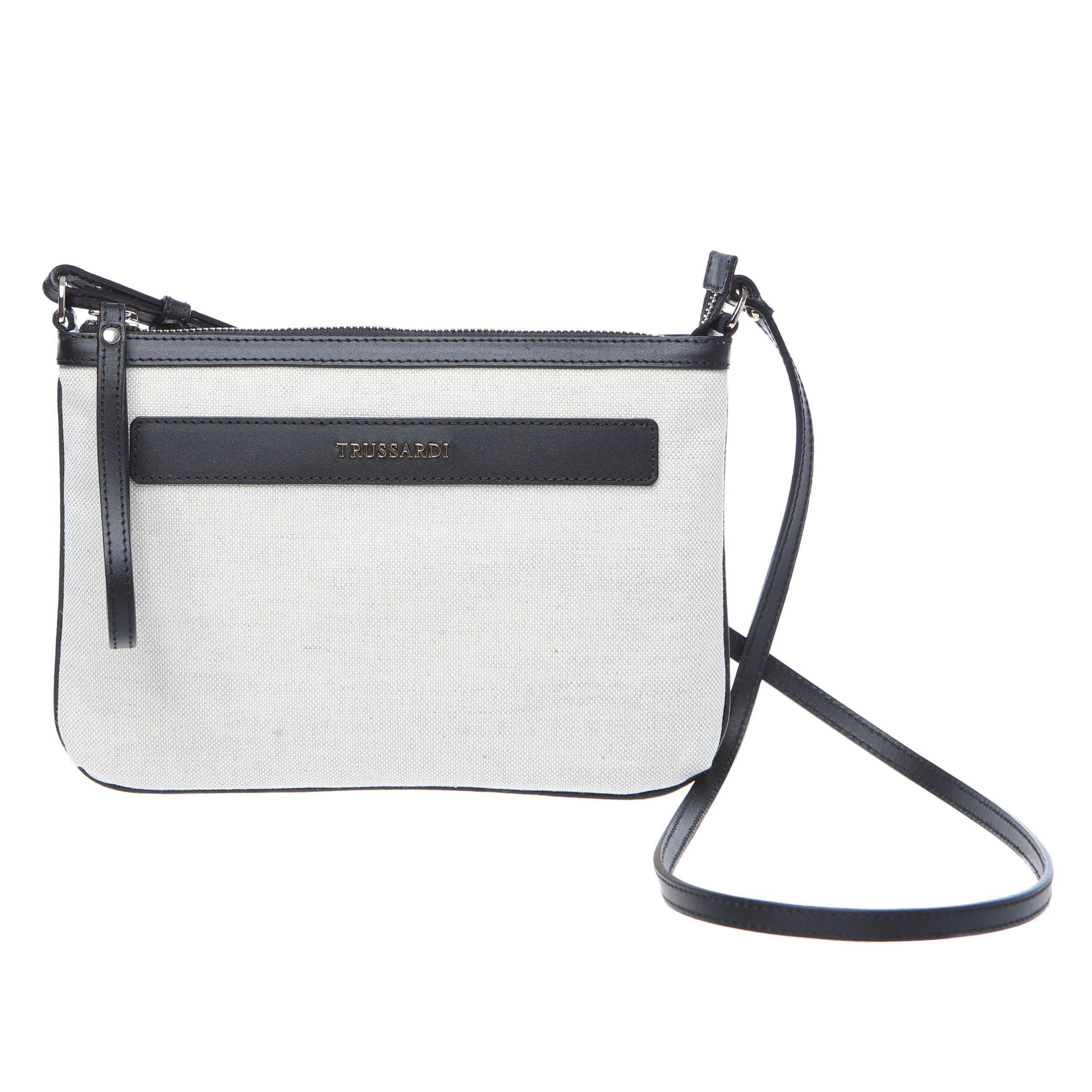 Trussardi Women's Crossbody Bag White 76B121M_119Natural-Black