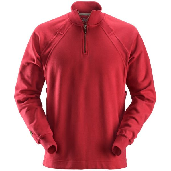 Snickers 2813 Sweatshirt chili, med MultiPockets XS