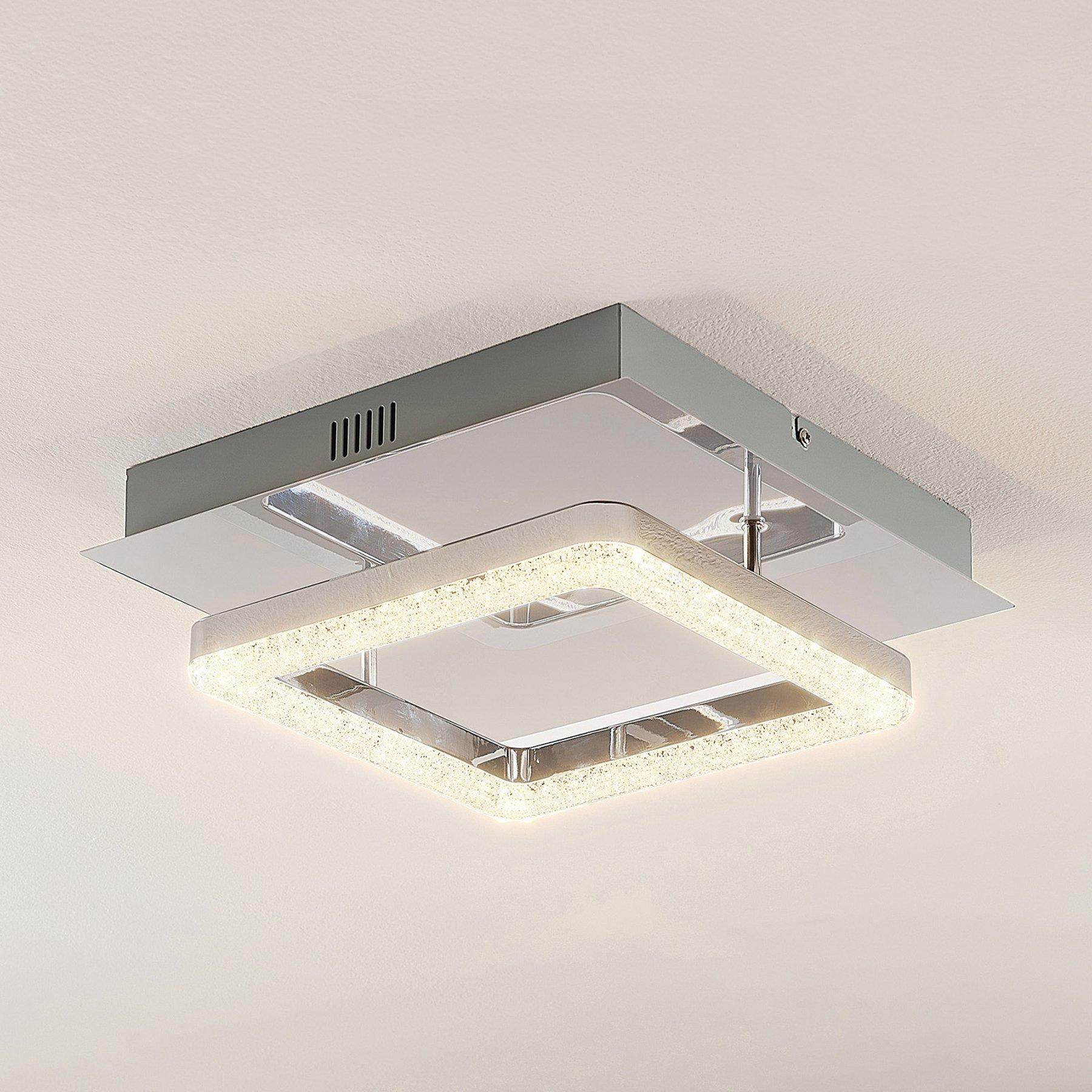 Lindby Charleen LED-taklampe, forkrommet