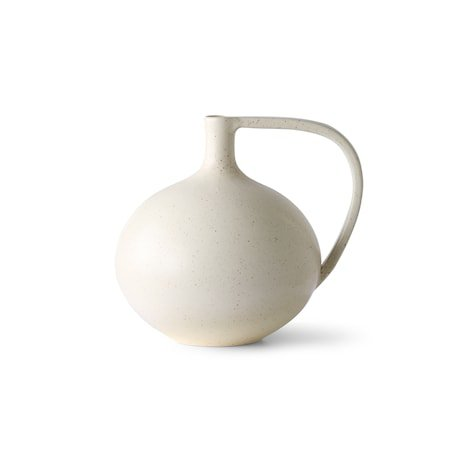 Ceramic Jar M White Speckled