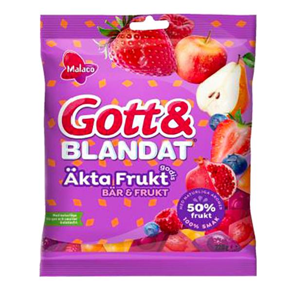 Malaco Gott & Blandat Äkta Frukt Bär - 100 g