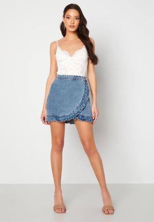ONLY Luna Life Denim Skirt Medium Blue Denim S