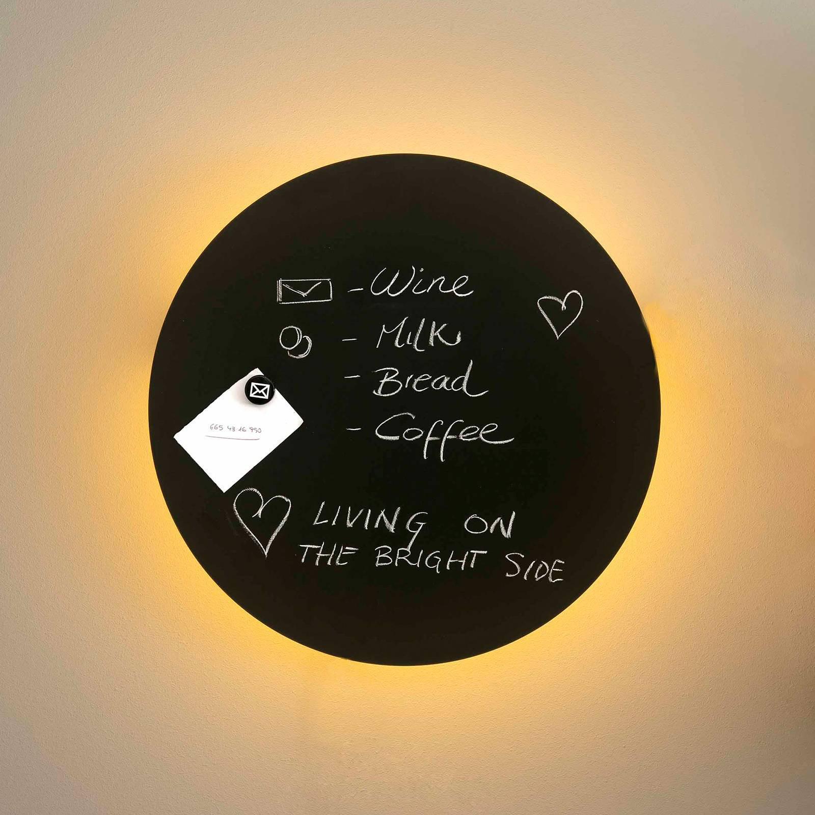 Vegglampe Board med LED-lys, kan skrives på, 45 cm