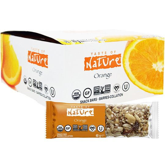 "Hel Låda Frukt- & Nötbars ""Orange"" 16 x 40g - 80% rabatt"