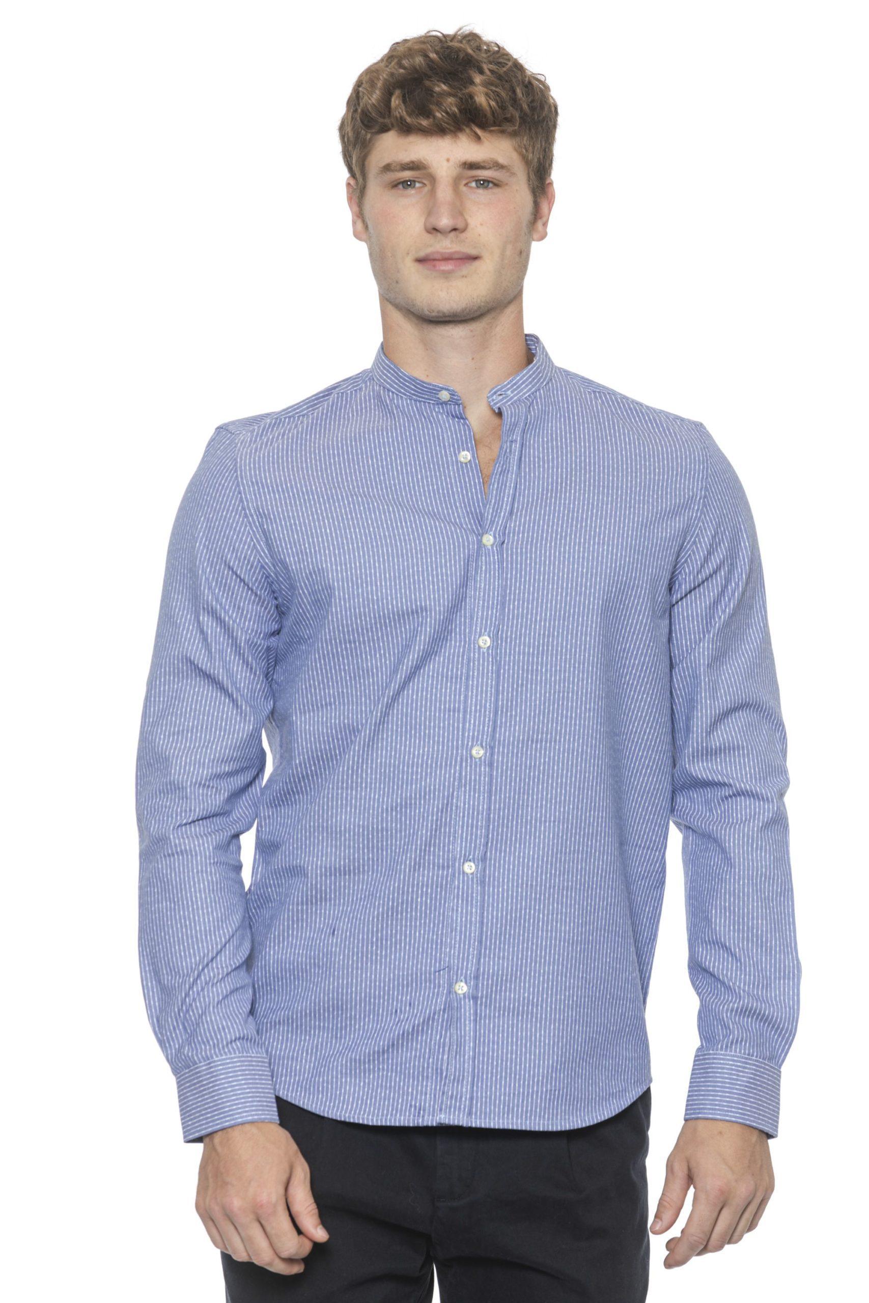Alpha Studio Men's Azzurro Sky Shirt Light Blue AL1394932 - IT50 | L