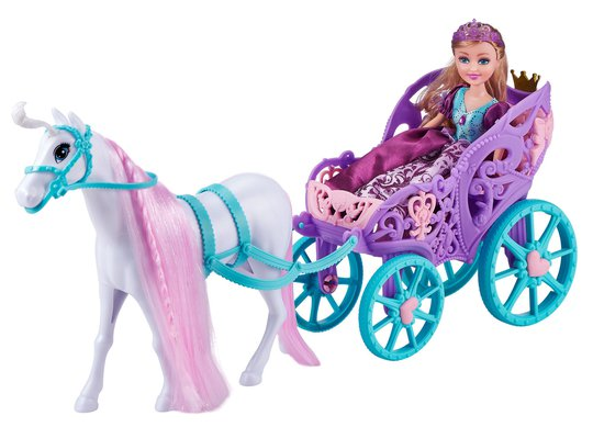 Sparkle Girlz Dukke Med Hest & Vogn