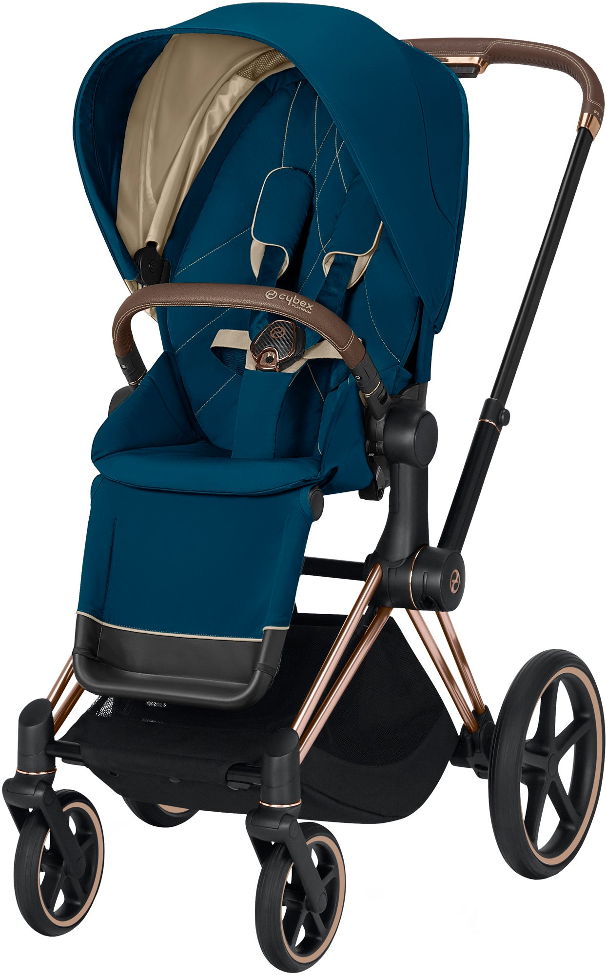 Cybex Priam Sittvagn, Mountain Blue/Rose Gold