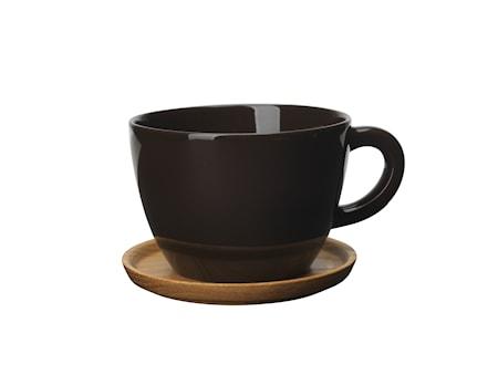 Höganäs Keramik Temuggg 50 cl med träfat bark blank