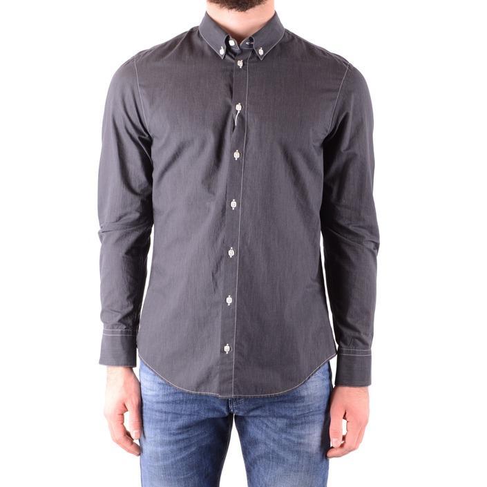 Armani Collezioni Men's Shirt Grey 164959 - grey M