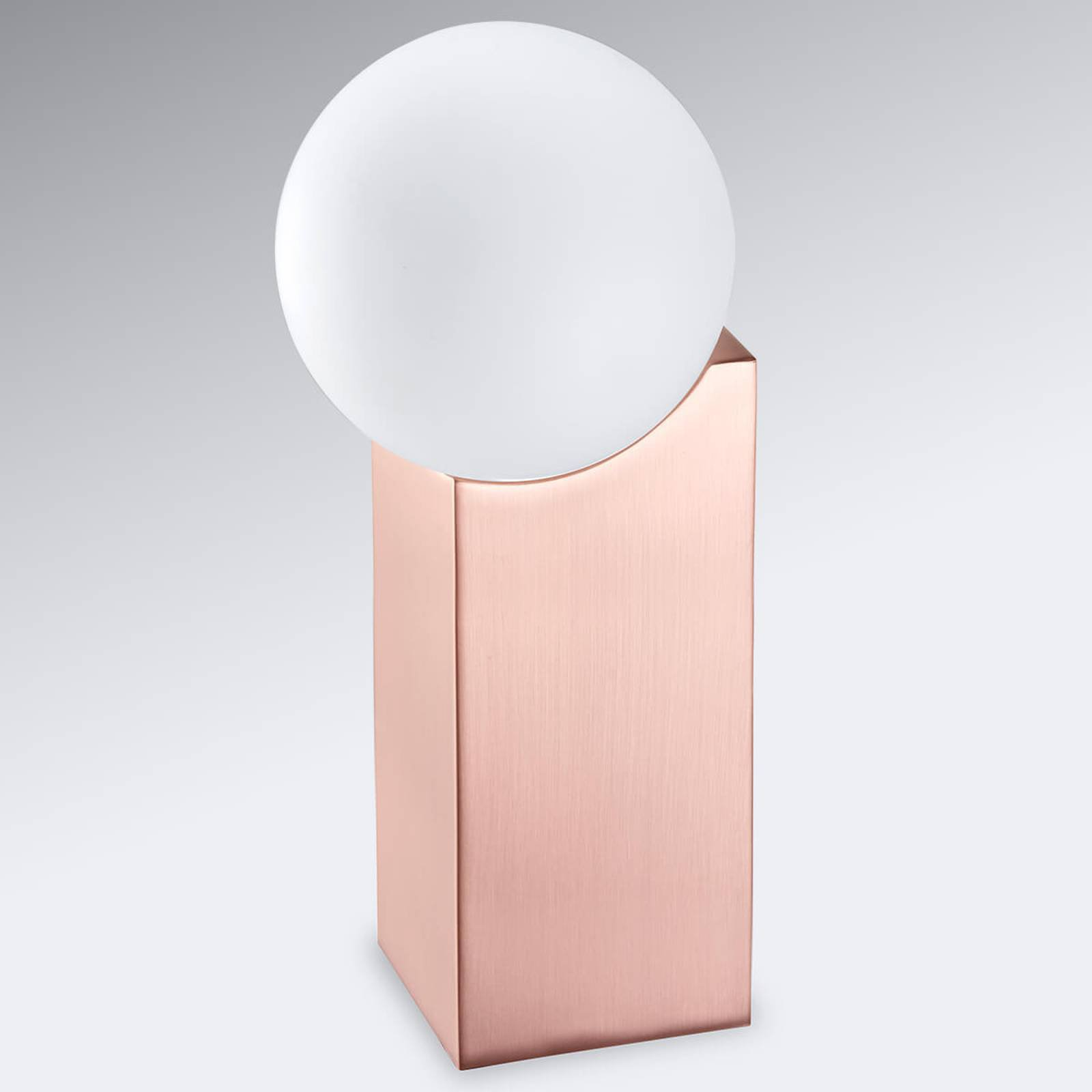 Bordlampe Cub 23,5 cm kobber