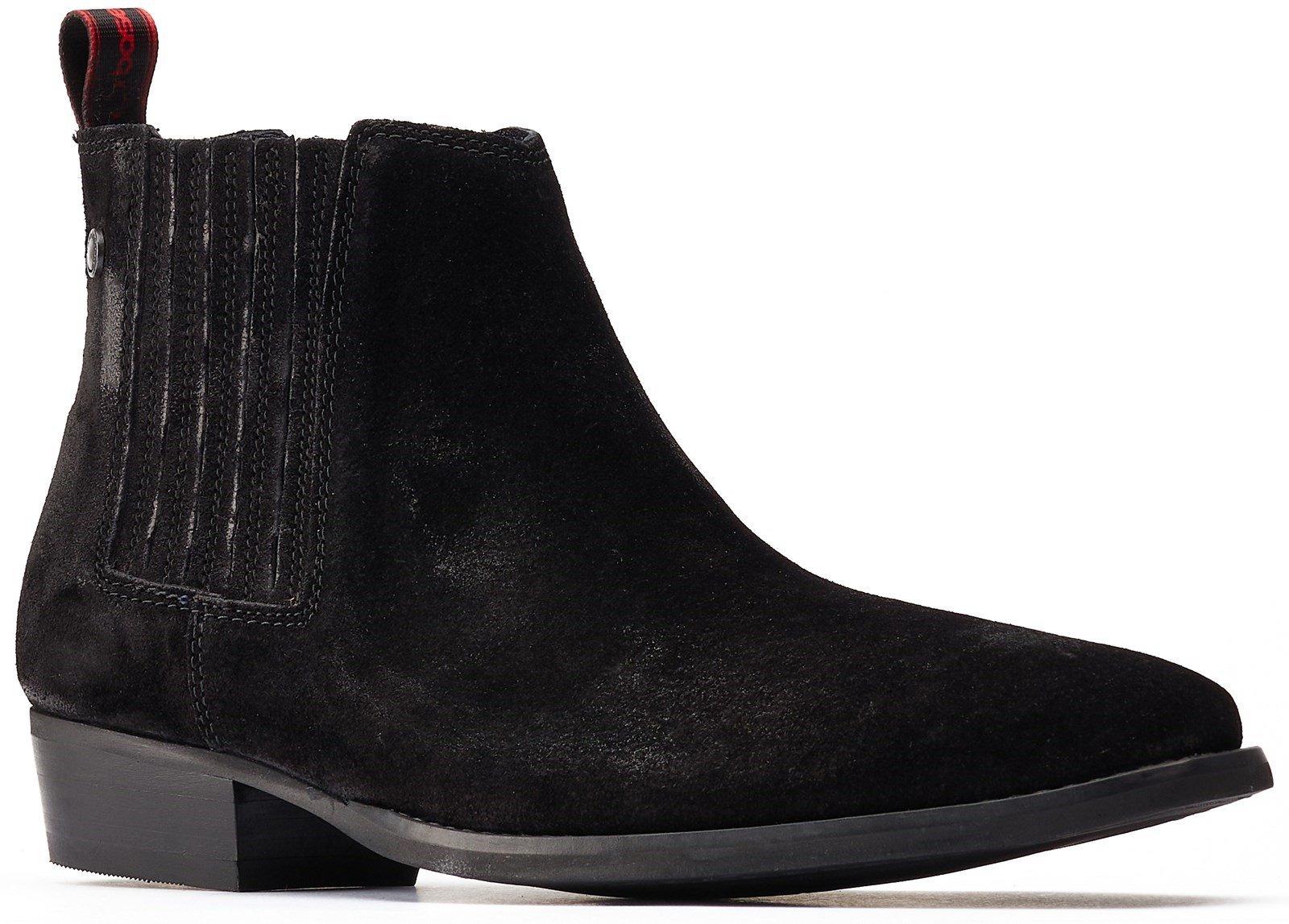 Base London Men's Monroe Rocker Boot Black 31235 - Black 6