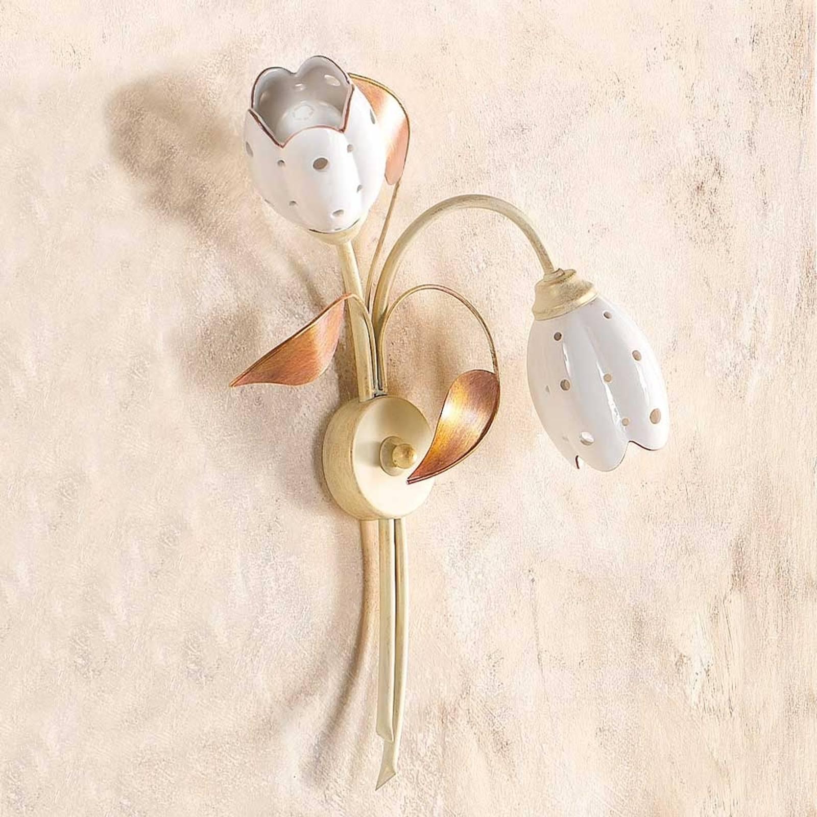 Kukkamainen seinävalaisin Tulipano, 2-lamppuinen