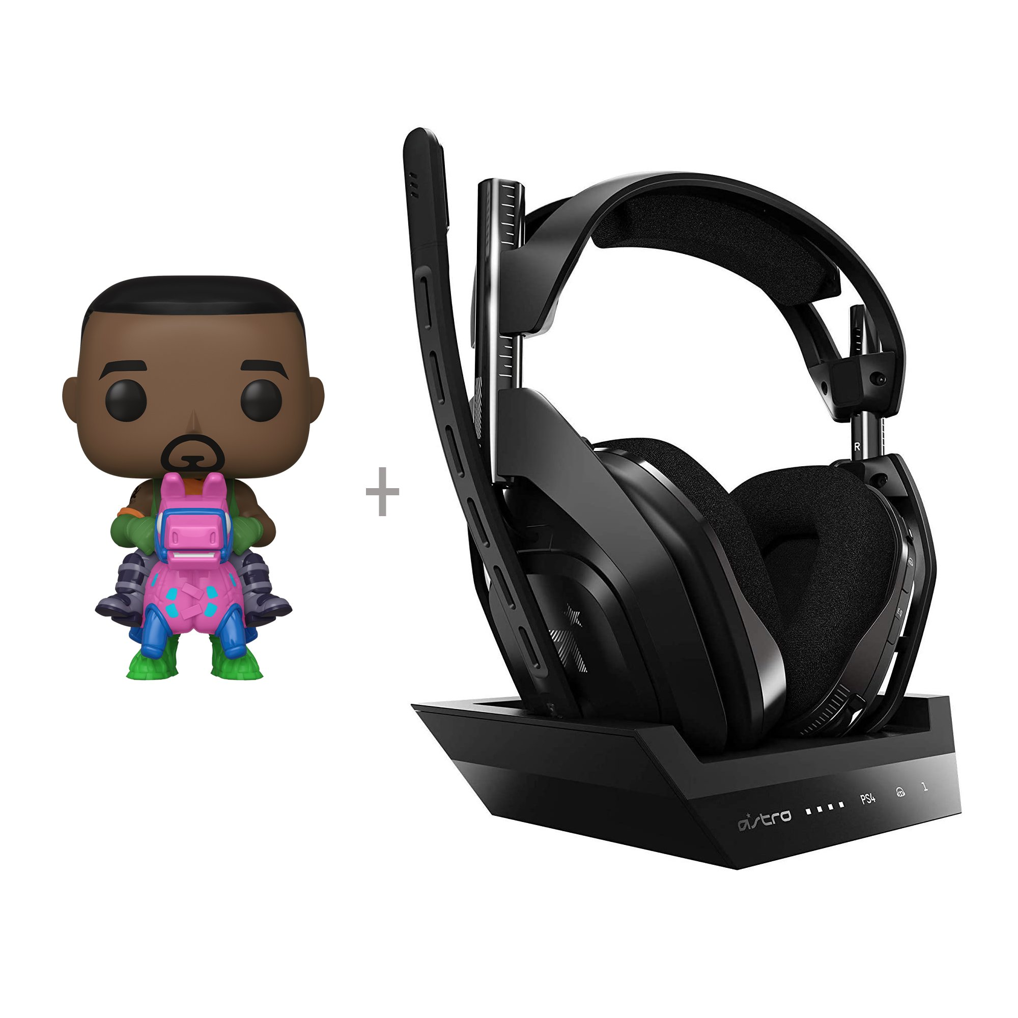 Astro - A50 Wireless + Base Station for PlayStation® 4/PC + Funko! POP - Games: Fortnite - Giddy Up (44732) - Bundle